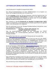 LEITFADEN ZUR ÜBUNG ... - Universität Wien