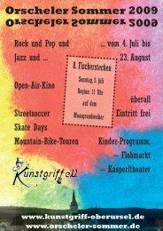 2009 Orscheler Sommer - Programmheft - Kunstgriff eV