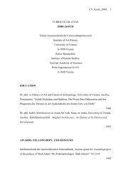 CV, Koch, 2009, 1 CURRICULUM VITAE EBBA KOCH Titular ...