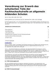 Verordnung zur Erwerb des schulischen Teils der ... - Kursnet