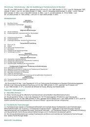 Schulordnung – über die Ausbildung an Fachoberschulen im - Kursnet