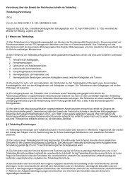 Verordnung über den Erwerb der Fachhochschulreife im ... - Kursnet