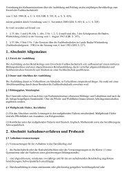 Verordnung des Kultusministeriums über die Ausbildung ... - Kursnet