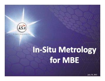 In-Situ Metrology for MBE