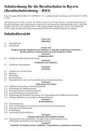 Schulordnung für die Berufsschulen in Bayern ... - Kursnet