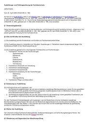 Ausbildungs- und Prüfungsordnung der Fachoberschule ... - Kursnet