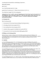 Verordnung über die Berufsschule in Mecklenburg ... - Kursnet