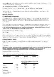 Verordnung über die Prüfungen zum nachträglichen ... - Kursnet