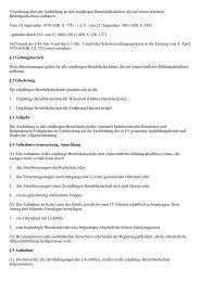 Verordnung über die Ausbildung an den einjährigen ... - Kursnet