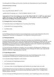 Verordnung über die Prüfung zum Erwerb der Abschlüsse ... - Kursnet