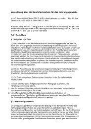 Verordnung über die Berufsfachschule für das ... - Kursnet
