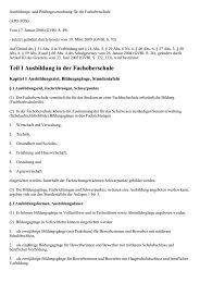 Ausbildungs- und Prüfungsverordnung für die ... - Kursnet