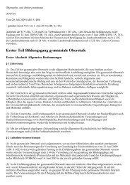 Oberstufen- und Abiturverordnung (OAVO) - Kursnet