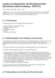 Berufsoberschulverordnung – BOSVO - Kursnet