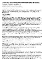 Verordnung über die Ausbildung und Abschlussprüfungen in den ...
