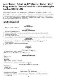 Schul- und Prüfungsordnung – über die gymnasiale ... - Kursnet