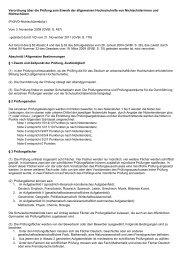 Verordnung über die Prüfung zum Erwerb der allgemeinen ... - Kursnet