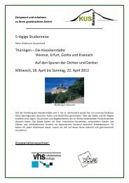 Thüringen - 5 Tage Reise Klassikerstädte Weimar ... - KUS Reisen