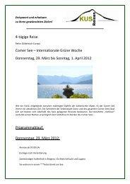Comer See - 4 Tage Reise Saisoneröffnung - 29 ... - KUS Reisen