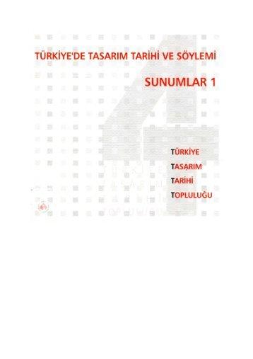 Türkiye'de tasarım tarihi ve söylemi: sunumlar 1 - İzmir Ekonomi ...