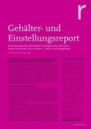 Gehälter- und Einstellungsreport - Anwaltsblatt Karriere