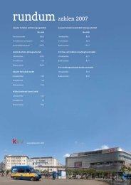 KVV Geschäftsbericht 2007 - rundum Zahlen - KVG