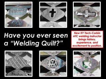 Have you ever seen a ?Welding Quilt?? - Kentucky Tech