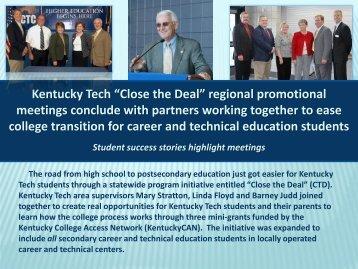 Kentucky Tech ?Close the Deal? regional promotional meetings ...