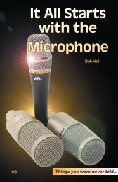 It All Starts with the Microphone - The Sound Room