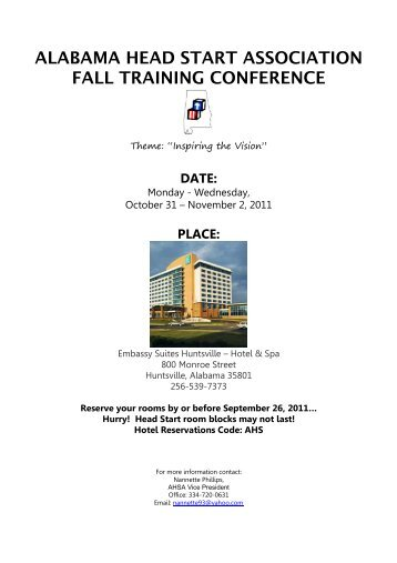 AHSA Fall Conference Flyer 2011