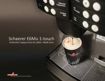 Schaerer E6Mu 1-touch