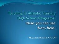 Student Athletic Training Programs