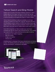 Yahoo! Search and Bing Mobile