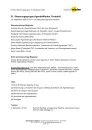 21. Steuerungsgruppe AgendaWieden, Protokoll - Lokale Agenda ...