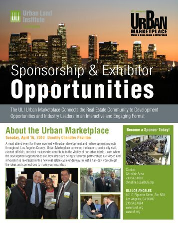 Download Sponsorship & Exhibitor Opportunities - ULI Los Angeles