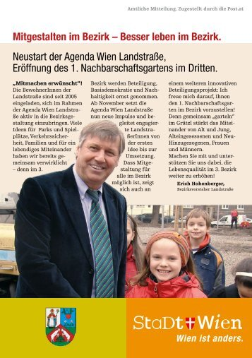 Neustart im November 2011 - Lokale Agenda 21 Wien