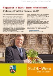 Broschüre Agenda Wien 3 - Aktuelle Gruppen und Fasanmarkt (2012)