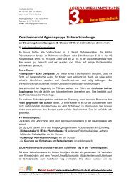 Zwischenbericht Agendagruppe Sichere Schulwege