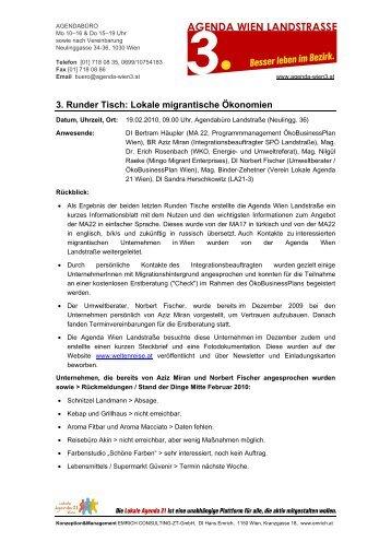 Protokoll (3) vom 19.02.10 - Lokale Agenda 21 Wien
