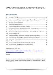 BMU-Broschüren: Erneuerbare Energien - Beuth Hochschule für ...
