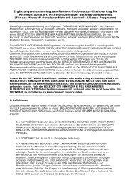 Ergänzungsvereinbarung zum Rahmen-Endbenutzer-Lizenzvertrag ...