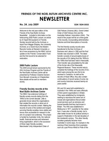 FNBAC3 Newsletter_Jly 2009 - Labour History Resources