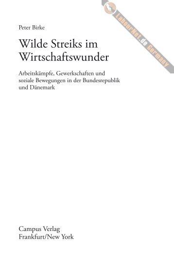 Inhaltsverzeichnis und Einleitung - LabourNet Germany