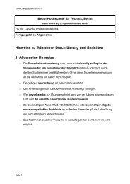 Hinweise zu Teilnahme, Durchführung und Berichten 1. Allgemeine ...