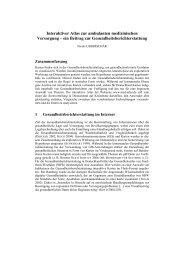 Interaktiver Atlas zur ambulanten medizinischen Versorgung - Beuth ...