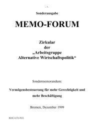 Dezember 1999 - Arbeitsgruppe Alternative Wirtschaftspolitik