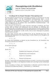 Phasengleichgewicht (Destillation) - Beuth Hochschule für Technik ...
