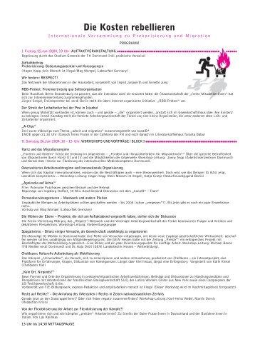 Programm zum Kongress - LabourNet Germany