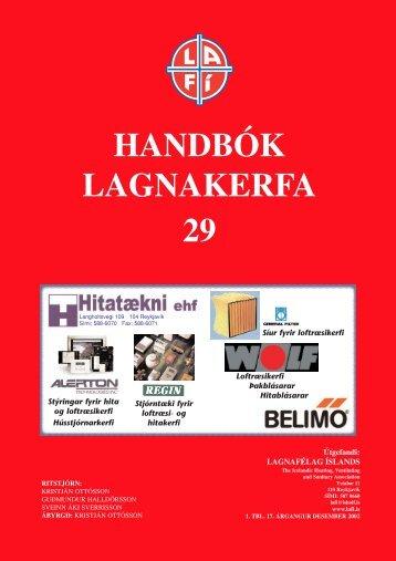 HANDBÓK LAGNAKERFA 29 - lafi.is