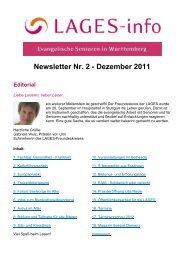 Newsletter Nr. 2 - Dezember 2011 - lages-wue.de